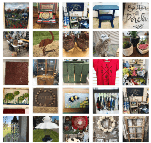 Collage of images of products found in The Shop in Princeton