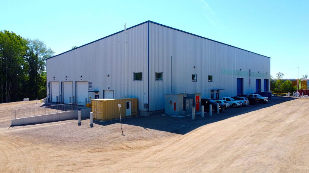 Outside of new StormFisher facility in Drumbo Ontario
